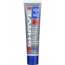 Kiss My Face Shave Cream - Natural Man - 4n1 Moisture - Invigorating Aqua Scent - 6 Oz - 1 Each