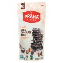 Prana Organics Organic 62% Chocolate Bark - Caramelized Nuts - Case Of 8 - 4 Oz