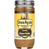 Once Again Peanut Butter - Natural - Old Fashioned - Crunchy - Salted - 16 Oz - Case Of 12