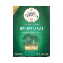 Twining's Tea Breakfast Tea - Irish, Black - Case Of 6 - 50 Bags