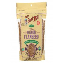 Bob's Red Mill Organic Flaxseeds - Golden - Case Of 6 - 13 Oz