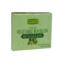 Rapunzel Bouillon Cubes - Vegetable - Vegan - Sea Salt And Herbs - 3.10 Oz - Case Of 12