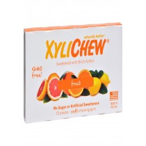Xylichew Gum - Fruit - Counter Display - 12 Pieces - 1 Case
