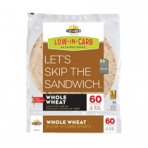 """Tumaros Low-in-carb Wraps - Whole Wheat - 8"""" - 8 Ct - Case Of 6"""