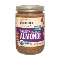 Woodstock Organic Almond Butter - Smooth - Unsalted - Case Of 12 - 16 Oz.