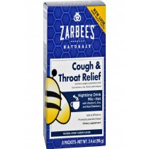 Zarbee's Cough And Throat Relief Drink Mix - Nighttime Supplement - 6 Packets