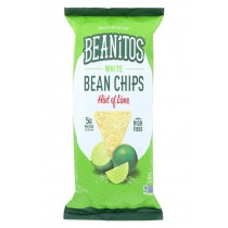Beanitos White Bean Chips - Hint Of Lime - Case Of 6 - 10 Oz