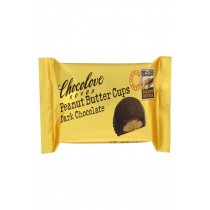 Chocolove Xoxox Cup - Peanut Butter - Dark Chocolate - Case Of 12 - 1.2 Oz