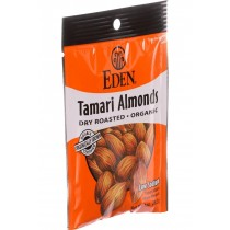 Eden Foods Organic Pocket Snacks - Tamari Almonds - Dry Roasted - 1 Oz - Case Of 12