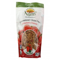New England Naturals Granola - Organic - Strawberry - Unsweetened - Case Of 6 - 11 Oz