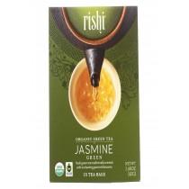 Rishi Organic Green Tea - Jasmine - Case Of 6 - 15 Bags
