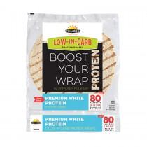 """Tumaros Low-in-carb Wraps - Premium White Protein - 8"""" - 5 Ct. - Case Of 6"""