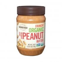 Woodstock Organic Easy Spread Peanut Butter - Crunchy - 18 Oz.