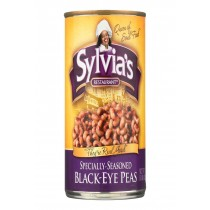 Sylvia's Black Eye Peas - Seasoned - Case Of 12 - 15 Oz.