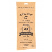 Three Jerks Jerky Filet Mignon Maple Bourbon Churro Jerky - Sweet And Booz.y - Case Of 12 - 2 Oz.