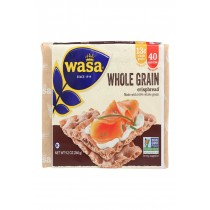 Wasa Crispbread Whole Grain - Flour And Water - Case Of 12 - 9.2 Oz.