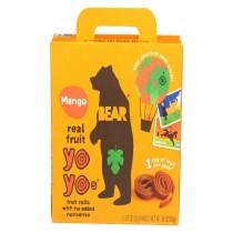 Bear Real Fruit Roll Yoyo - Mango - Case Of 6 - 3.5 Oz