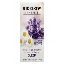 Bigelow Tea Tea - Chamomile Lavender - Sleep - Case Of 6 - 18 Bag