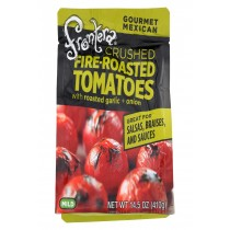 Frontera Foods Salpica Crushed Tomato - Tomato Garlic And Onion - Case Of 6 - 14.5 Oz.