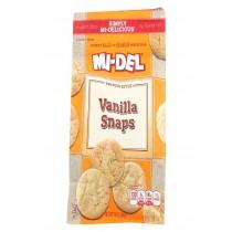 Midel Cookies - Vanilla Snaps - Case Of 8 - 10 Oz
