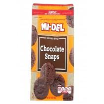 Midel Cookies - Chocolate Snaps - Case Of 8 - 10 Oz