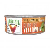 Natural Sea Wild Yellowfin Tuna - With Sea Salt - 5 Oz.