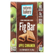 Nature's Bakery Stone Ground Whole Wheat Fig Bar - Apple Cinnamon - Case Of 6 - 2 Oz.