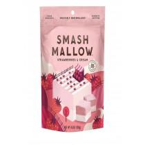 Smashmallow Snackable Marshmallows - Strawberries & Cream - Case Of 12 - 4.5 Oz