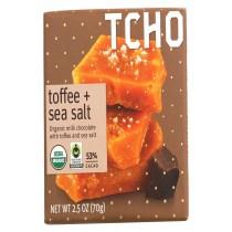Tcho Chocolate Organic Milk Chocolate Bar - Toffee And Sea Salt - Case Of 12 - 2.5 Oz.