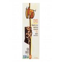 Theo Chocolate Black Rice Quinoa Crunch - 85 Percent Dark Chocolate - Case Of 12 - 3 Oz.