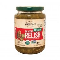 Woodstock Organic Jalapeno Relish - Case Of 6 - 16 Oz.
