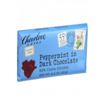 Chocolove Xoxox Premium Chocolate Bar - Dark Chocolate - Peppermint - 3.2 Oz Bars - Case Of 12