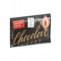 Chocolove Xoxox Premium Chocolate Bar - Dark Chocolate - Strong - Mini - 1.3 Oz Bars - Case Of 12