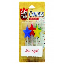 Cake Mate Birthday Party Candles - Star Light - 6 Count - Case Of 6