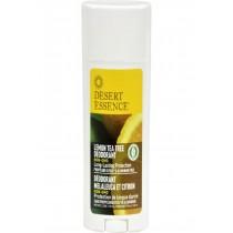 Desert Essence Deodorant - Lemon Tea Tree - 2.5 Oz