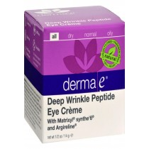 Derma E Peptides Plus Wrinkle Reverse Eye Creme - 14 G - 0.5 Oz