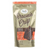 Dr. Lucy's Brownie Crisps - Triple Chocolate - Case Of 8 - 4.5 Oz.