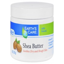 Earth's Care Shea Butter - 100 Percent Pure - Natural - 6 Oz