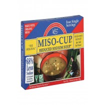 Edward And Sons Reduced Sodium Miso - Cup - Case Of 12 - 1 Oz.