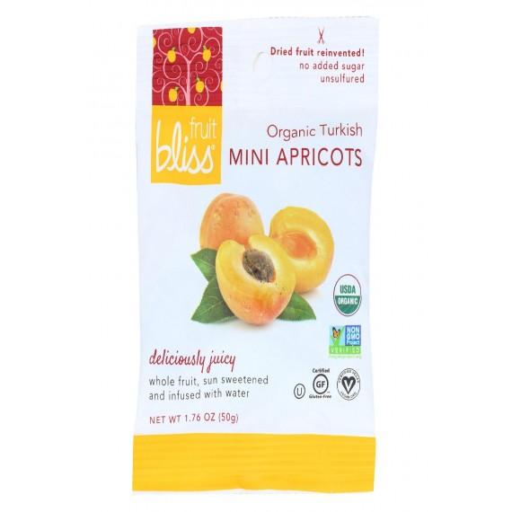 Fruit Bliss Organic Turkish Mini Apricots - Mini Apricots - Case Of 12 - 1.76 Oz.