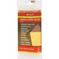 Full Circle Home Sponge Walnut Scrubber - Case Of 6 - 2 Pack