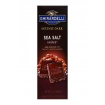 Ghirardelli Dark Bar Sea Salt Soiree Bars - Chocolate Intense - Case Of 12 - 3.5 Oz.