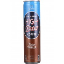 High Brew Coffee Coffee - Ready To Drink - Mexican Vanilla - 8 Oz - Case Of 12