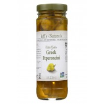 Jeff's Natural Jeff's Natural Greek Pepperoncini - Pepperoncini - Case Of 6 - 12 Oz.