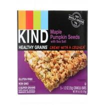 Kind Bar - Granola - Healthy Grains - Maple Pumpkin Seeds With Sea Salt - 5/1.2 Oz - Case Of 8