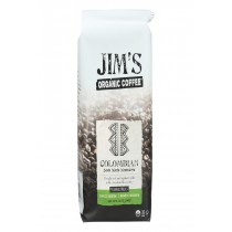 Jim's Organic Coffee - Whole Bean - Colombian Santa Marta Montesierra - Case Of 6 - 12 Oz.