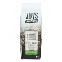 Jim's Organic Coffee - Whole Bean - Costa Rican - Case Of 6 - 12 Oz.