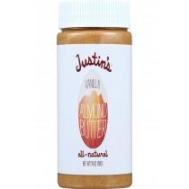 Justins Nut Butter Almond Butter - Natural Vanilla - Jar - 16 Oz - Case Of 6