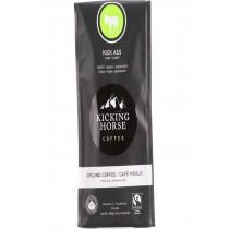 Kicking Horse Coffee - Organic - Ground - Kick Ass - Dark Roast - 10 Oz - Case Of 6