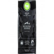 Kicking Horse Coffee - Organic - Whole Bean - Kick Ass - Dark Roast - 10 Oz - Case Of 6